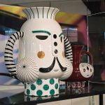 bosa king vase white green and raki vase
