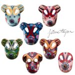 bosa set of 7 big masks baile collection