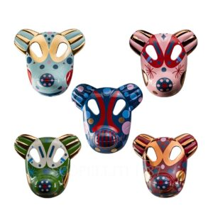 bosa set of 5 bear small masks baile collection