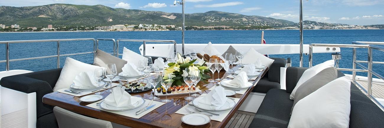luxury yacht tableware