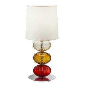 venini table lamp red amber tea