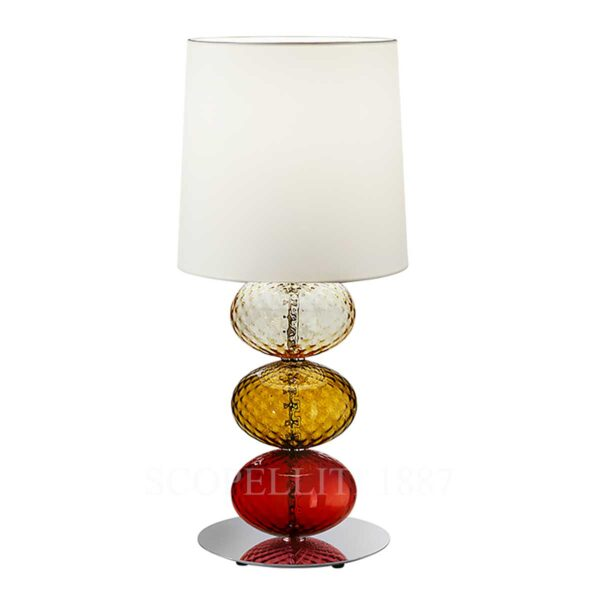 venini table lamp red amber tea