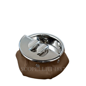 cigar ashtray in leather giobagnara