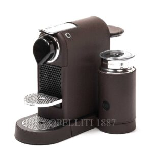 citiz easy version with milk frother coffee machine leather pigment france