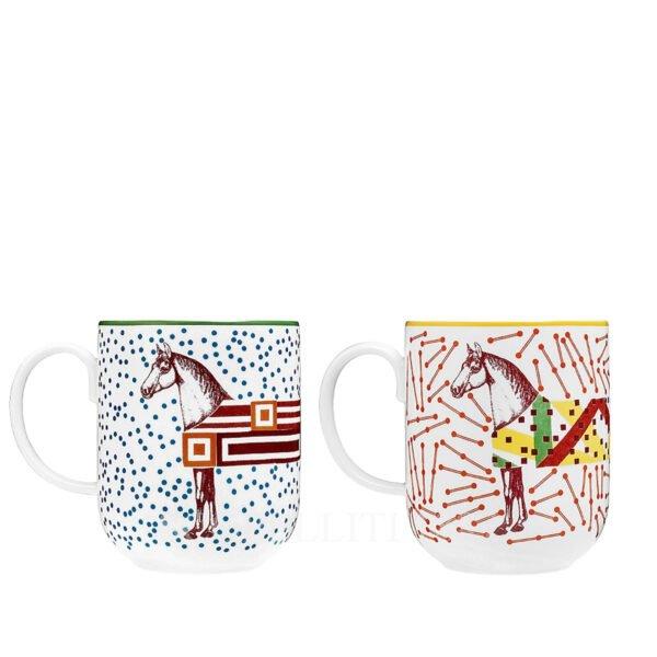 hermes hippomobile set of 2 mugs