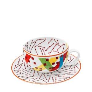 hermes hippomobile tea cup and saucer n.1