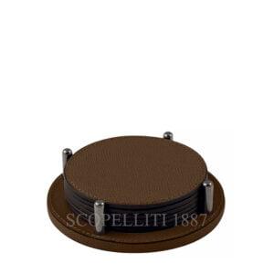 leather round coaster giobagnara