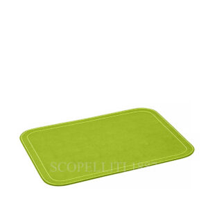 leather oval place mat giobagnara