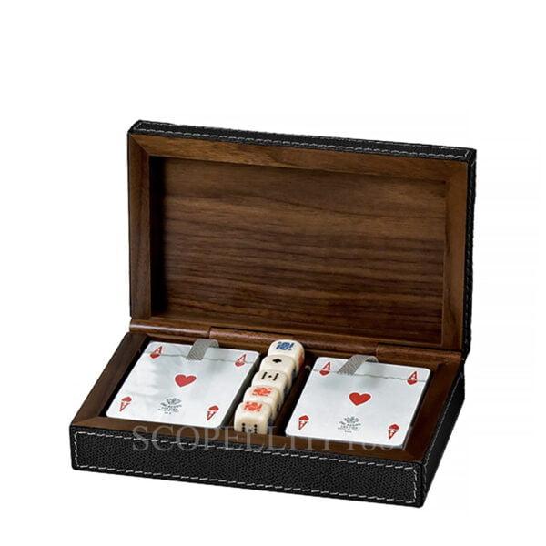 leather playing card and dice box giobagnara