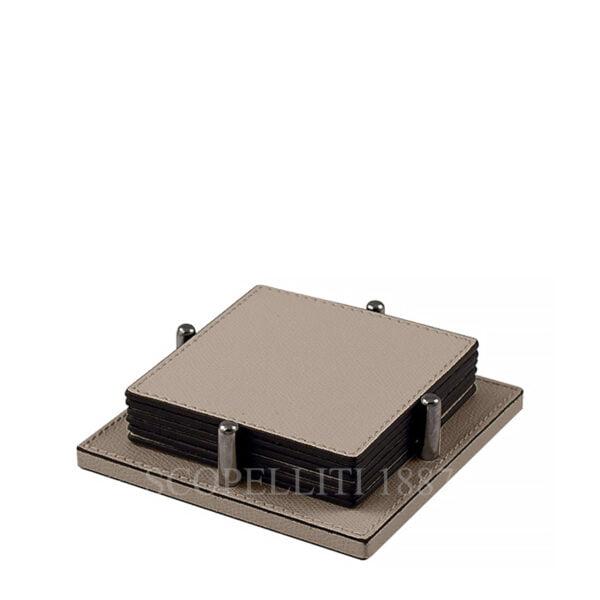leather square coaster giobagnara