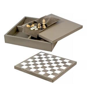 leather triple game set giobagnara