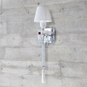 baccarat crystal torch wall sconce