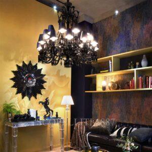 baccarat zenith black chandelier