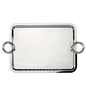 christofle silver plated vertigo large tray