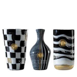 venini versace set of 3 vases