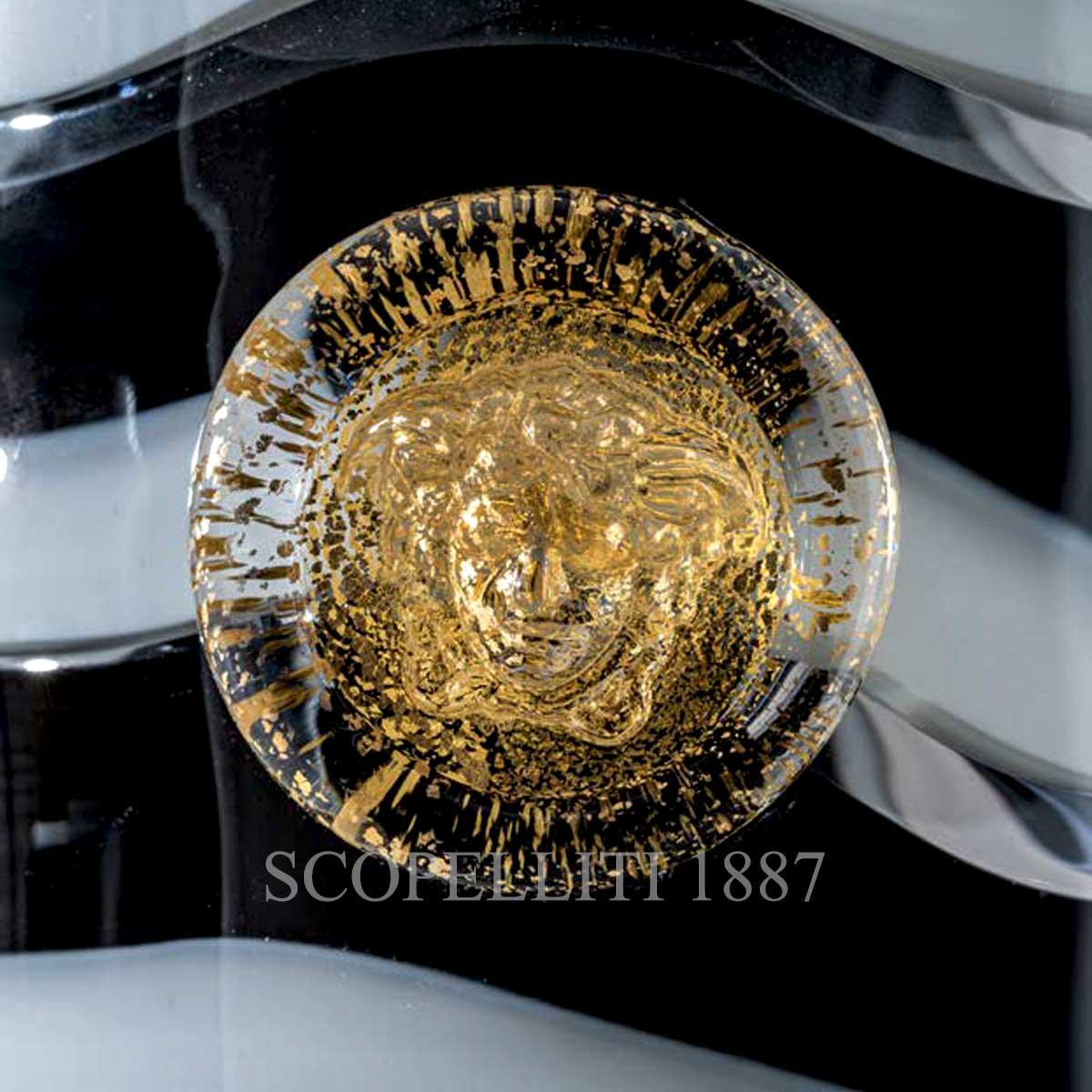 venini versace vase gold medusa
