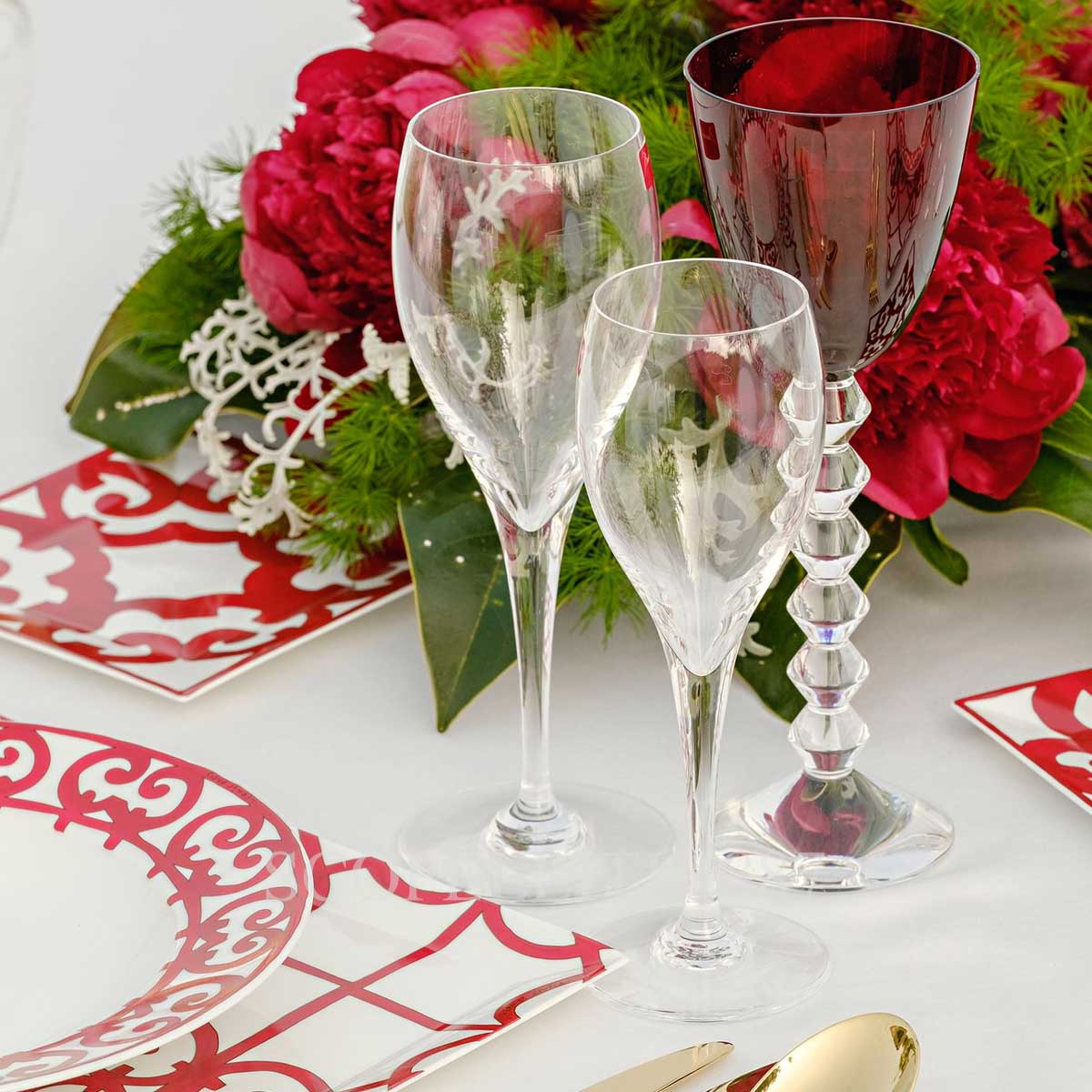 hermes and baccarat table setting