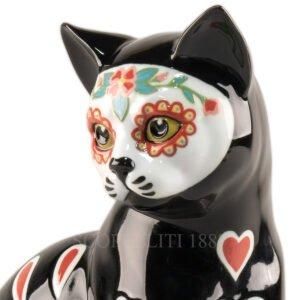 lladro catrina black cat