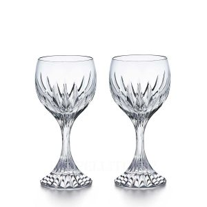 baccarat massena set of 2 red wine glasses