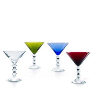 baccarat vega martini coloured glasses