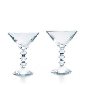 baccarat vega set of 2 martini glasses