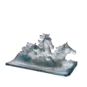 daum cavalcade crystal pensil holder grey
