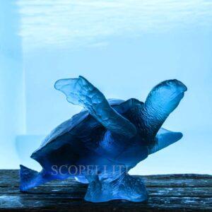 daum mer de corail turtle blue numbered edition