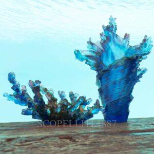 daum mer de corail vase numbered edition