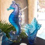 daum mer de corail vase medium numbered edition