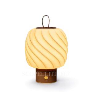 lladro ice cream portable lamp brown