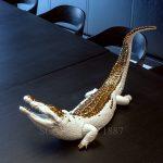 lladro crocodile large figurine