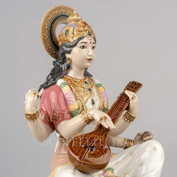 lladro goddess saraswati figurine