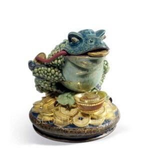 lladro lucky hoptoad figurine