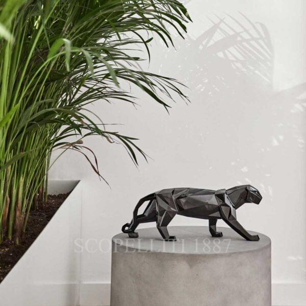 lladro panther figurine black glazed