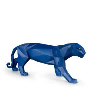 lladro panther blue matte