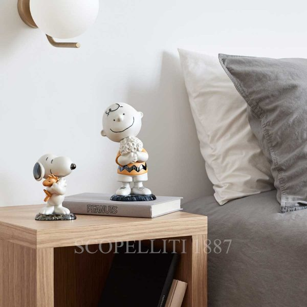 lladro snoopy and charlie brown figurine