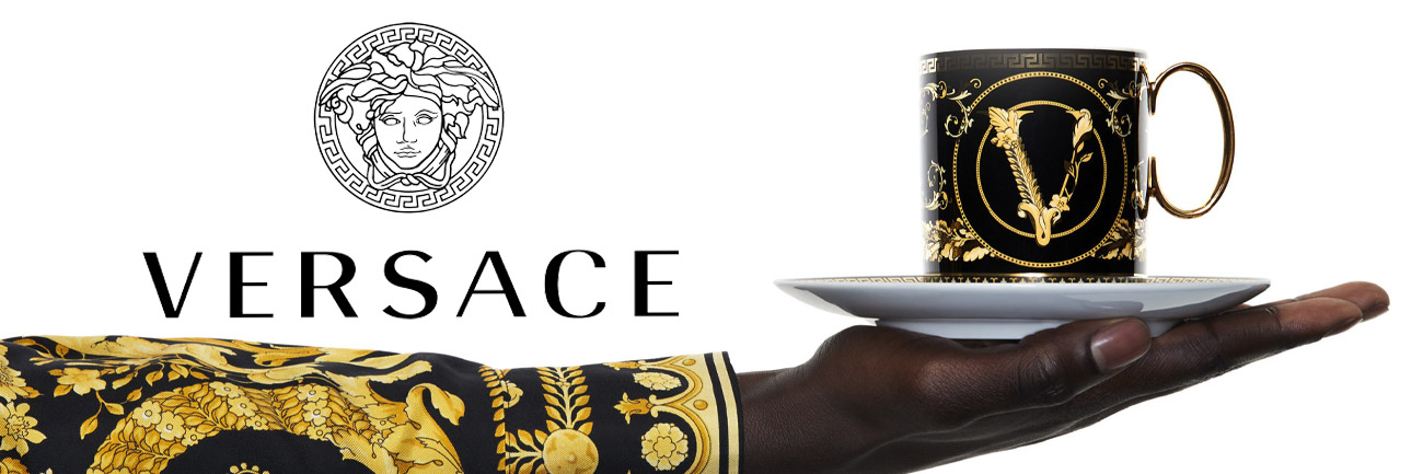 versace coffee cup banner