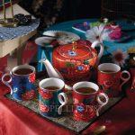 wedgwood paeonia blush teapot and mugs set