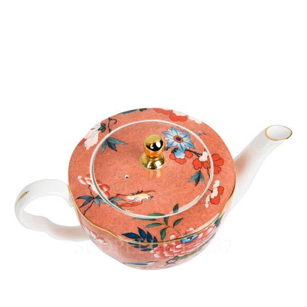 wedgwood paeonia blush teapot porcelain