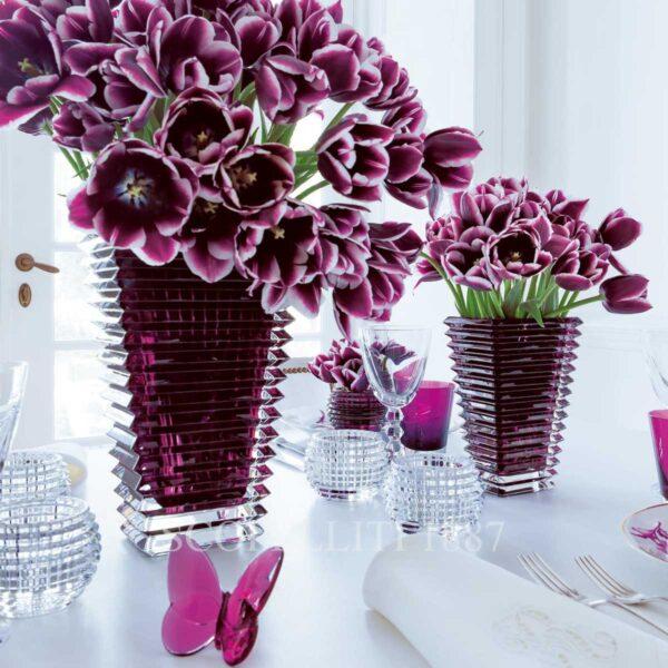 baccarat eye purple crystal vases
