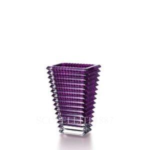 baccarat eye vase small purple