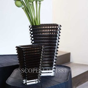 baccarat eye vases grey small and large
