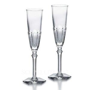 baccarat harcourt eve set 2 flutes clear