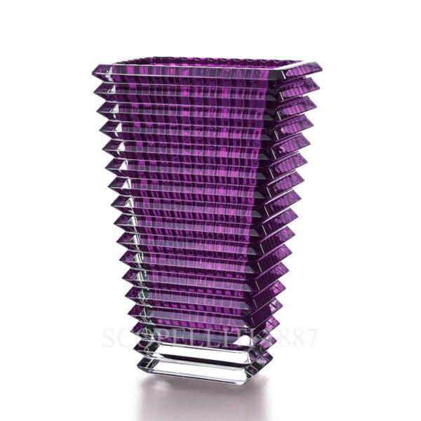 baccarat eye vase large purple