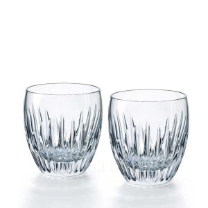 baccarat mosaique set two tumblers red