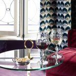 baccarat set of 2 wine glasses jcb passion