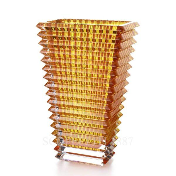 baccarat eye vase large gold