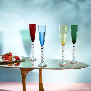 baccarat vega 4 flute coloured