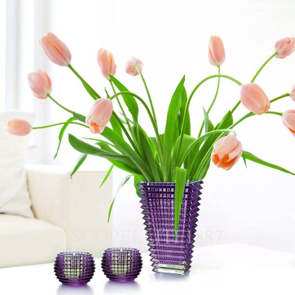 baccarat eye vase violet
