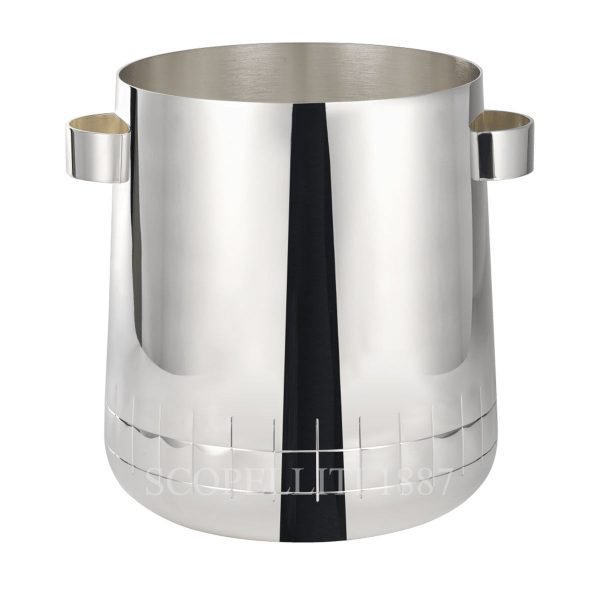christofle silver plated champagne cooler graphik